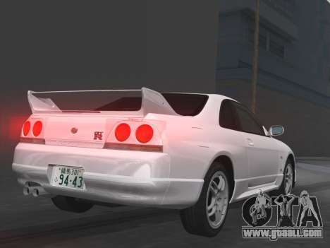 Nissan SKyline GT-R BNR33 for GTA Vice City interior