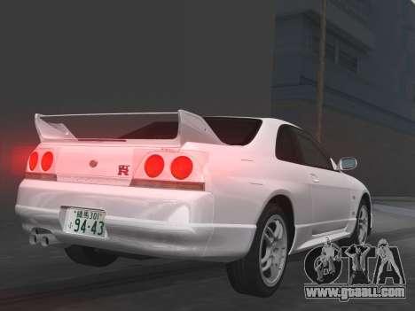 Nissan SKyline GT-R BNR33 for GTA Vice City interior