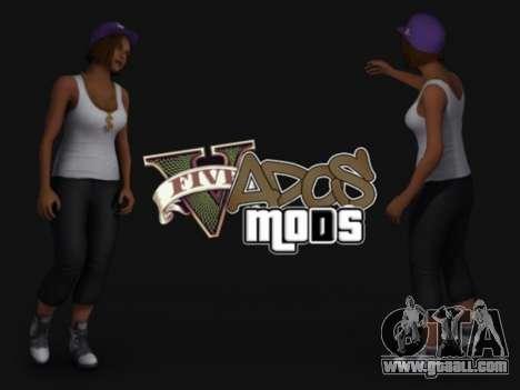 Pak skins girls for GTA San Andreas second screenshot