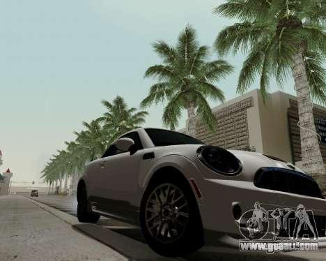 MINI Cooper S 2012 for GTA San Andreas back left view