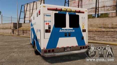 Brute Ambulance Toronto [ELS] for GTA 4 back left view