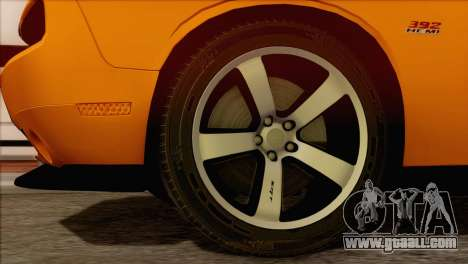 Dodge Challenger SRT8 2012 HEMI for GTA San Andreas back left view