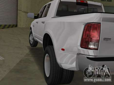 Dodge Ram 3500 Laramie 2012 for GTA Vice City right view