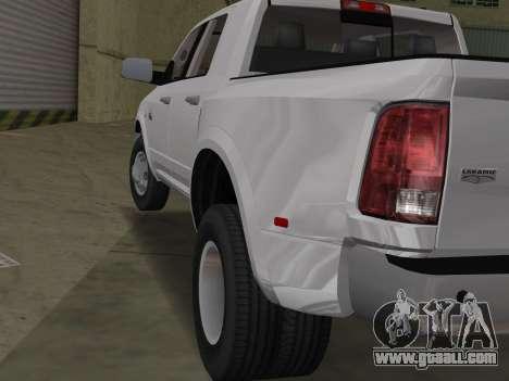 Dodge Ram 3500 Laramie 2012 for GTA Vice City right view