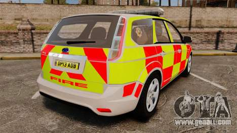 Ford Focus Estate 2009 Fire Car England [ELS] for GTA 4 back left view