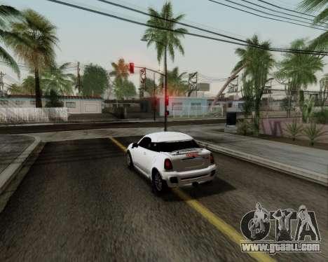 MINI Cooper S 2012 for GTA San Andreas inner view