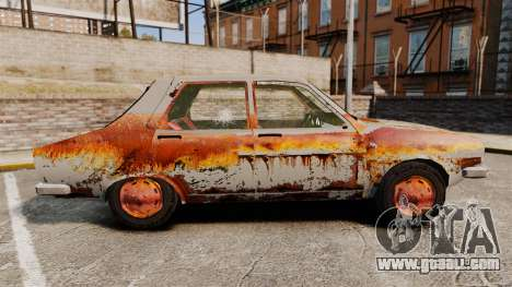 Renault 12 Toros v2.0 Rusty for GTA 4 left view