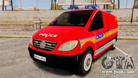 Mercedes-Benz Vito Metropolitan Police [ELS] for GTA 4