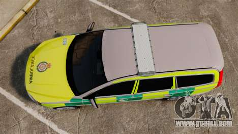 Volvo V70 Ambulance [ELS] for GTA 4 right view