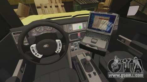 Range Rover Vogue Brannvesenet for GTA 4 back view