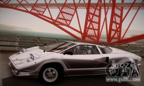 Lamborghini Countach 25th Anniversary for GTA San Andreas right view