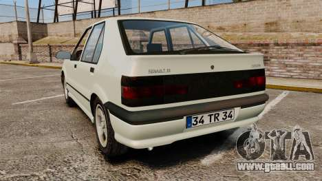 Renault 19 Europa for GTA 4 back left view