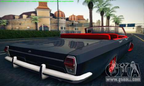 GAZ Volga 24 Cabriolet for GTA San Andreas right view