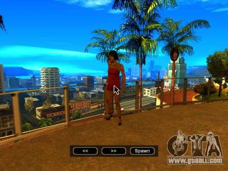 Pak skins girls for GTA San Andreas ninth screenshot