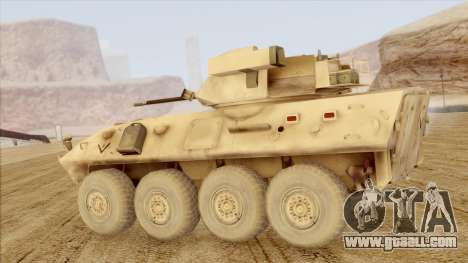 LAV-25 Desert Camo for GTA San Andreas left view