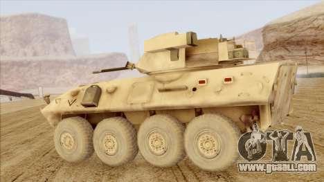 LAV-25 Desert Camo for GTA San Andreas left view