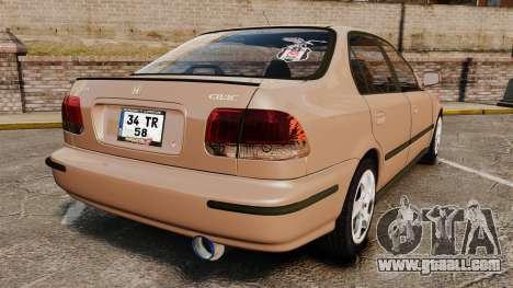 Honda Civic for GTA 4 back left view
