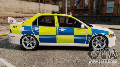 Mitsubishi Lancer Evolution IX Uk Police [ELS] for GTA 4 left view