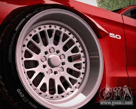 Ford Mustang Rocket Bunny 2015 for GTA San Andreas upper view