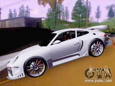 Porsche Carrera S for GTA San Andreas inner view