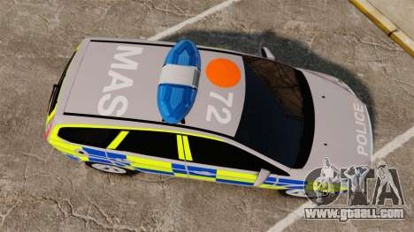 Ford Focus Estate 2009 Police England [ELS] for GTA 4 right view