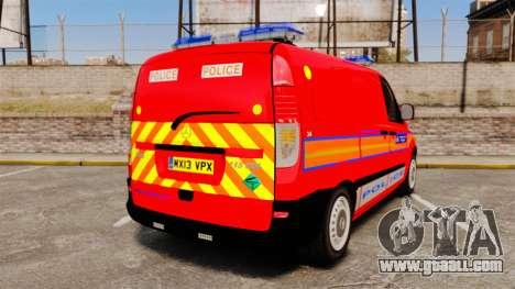 Mercedes-Benz Vito Metropolitan Police [ELS] for GTA 4 back left view