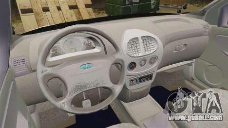 Vaz-1119 Lada Kalina for GTA 4 back view