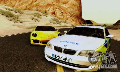 BMW 120i SE Police for GTA San Andreas back left view