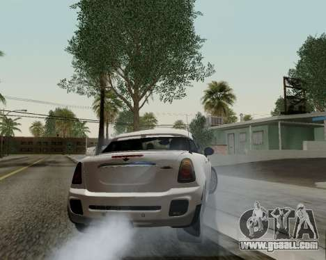 MINI Cooper S 2012 for GTA San Andreas upper view