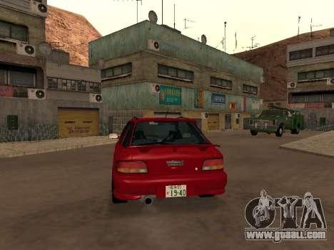 Subaru Impreza Wagon for GTA San Andreas right view