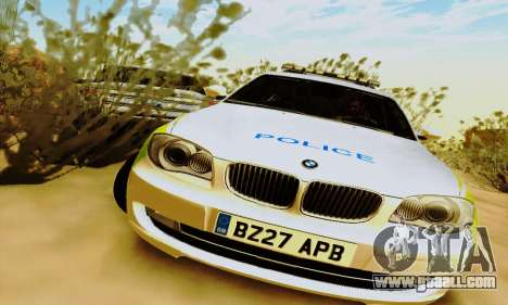BMW 120i SE Police for GTA San Andreas left view