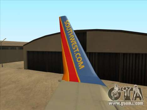 Boeing 737 Southwest Airlines for GTA San Andreas side view
