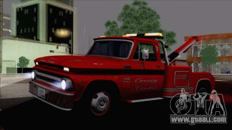 Chevrolet C20 Towtruck 1966 1.01 for GTA San Andreas left view