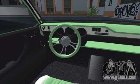 Dacia 1300 Retro Art for GTA San Andreas inner view