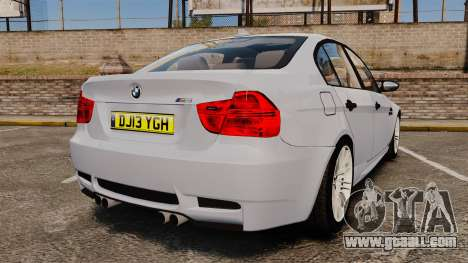 BMW M3 Unmarked Police [ELS] for GTA 4 back left view