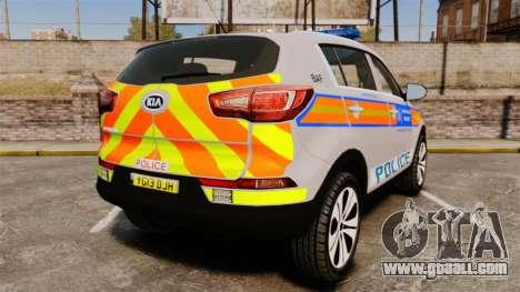 Kia Sportage Metropolitan Police [ELS] for GTA 4 back left view