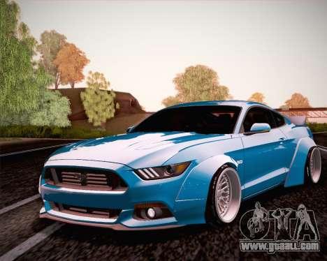 Ford Mustang Rocket Bunny 2015 for GTA San Andreas back view