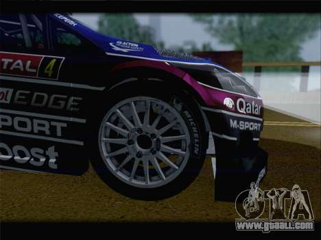 Ford Fiesta RS WRC 2013 for GTA San Andreas back view