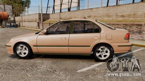 Honda Civic for GTA 4 left view