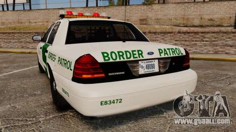Ford Crown Victoria 1999 U.S. Border Patrol for GTA 4 back left view
