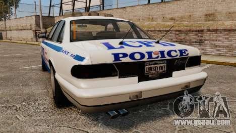 Vapid Police Cruiser v2.0 for GTA 4 back left view
