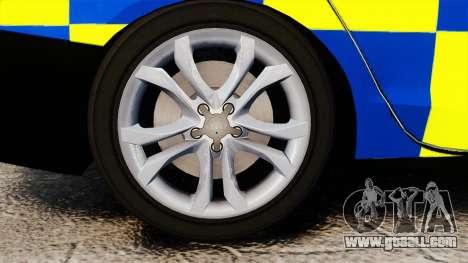 Audi S4 Police [ELS] for GTA 4 back view