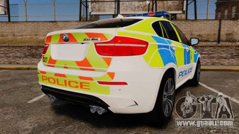 BMW X6 Lancashire Police [ELS] for GTA 4 back left view