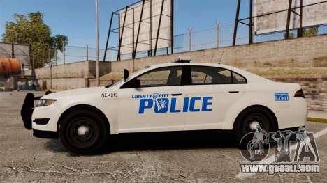 GTA V Vapid Police Interceptor LCPD [ELS] for GTA 4 left view