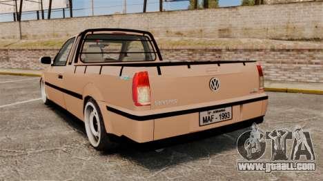 Volkswagen Saveiro G3 SuperSurf for GTA 4 back left view