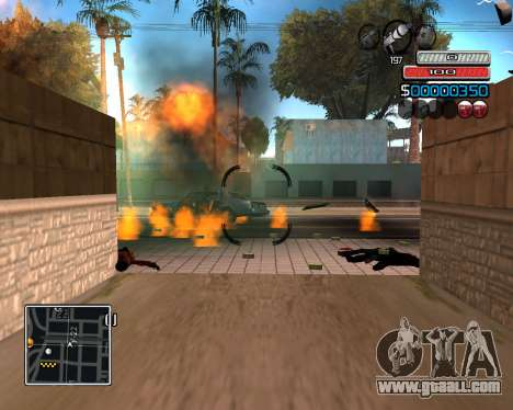 (C) HUD-by Wh_SkyLine for GTA San Andreas third screenshot
