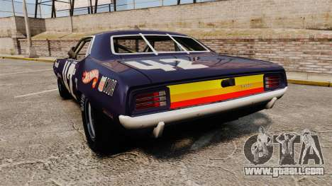 Plymouth Cuda AAR 1970 for GTA 4 back left view