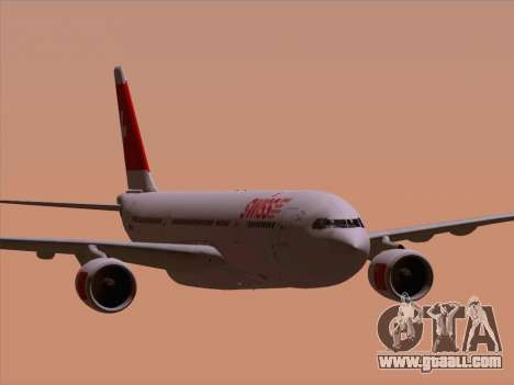 Airbus A330-223 Swiss International Airlines for GTA San Andreas bottom view