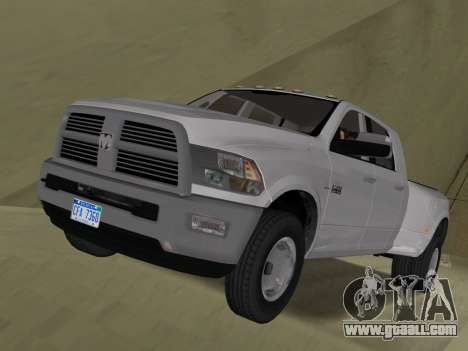 Dodge Ram 3500 Laramie 2012 for GTA Vice City side view