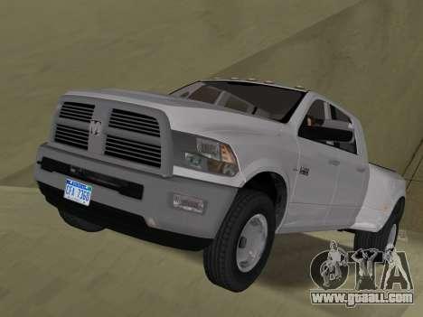 Dodge Ram 3500 Laramie 2012 for GTA Vice City side view